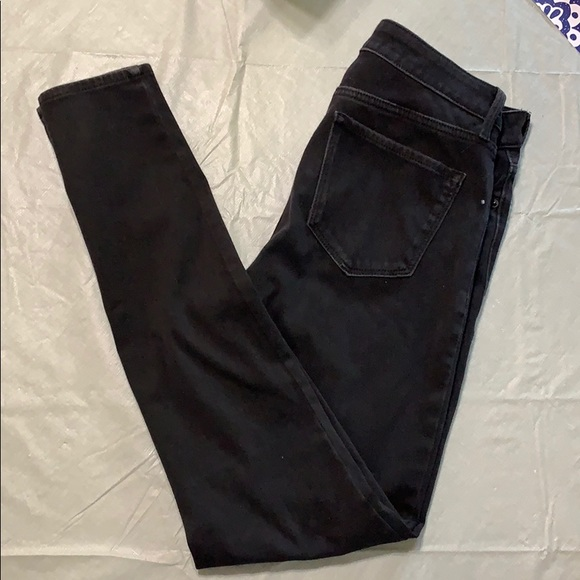 Old navy faded black skinny high rise jeans
